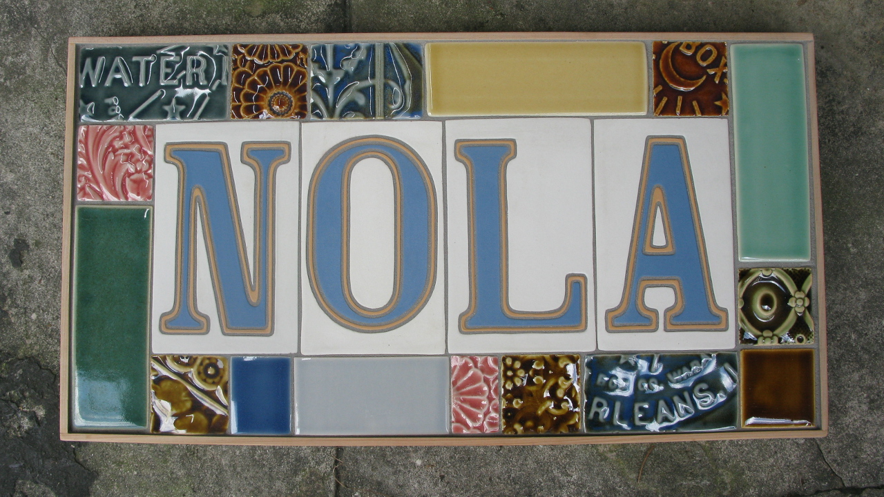 Derby Pottery Tile 2029 Street New Orleans